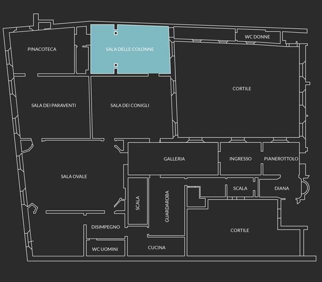 pianimetria Sala delle Colonne